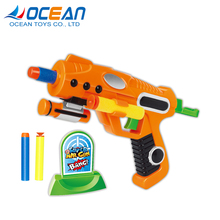 6pcs air soft bullets kids indoor paint ball guns shooting with plastic target