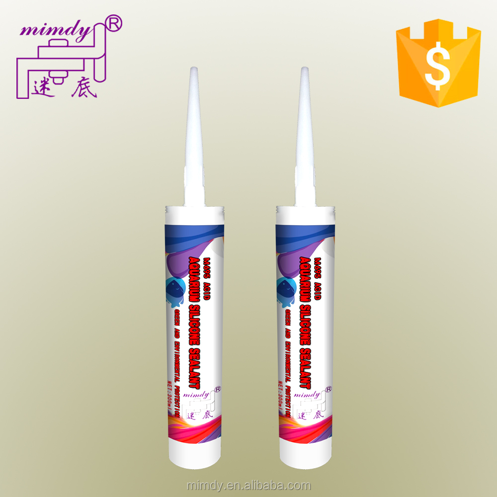 acetic silicone adhesive Water clear rtv glass glue water tank glass silicone sealant