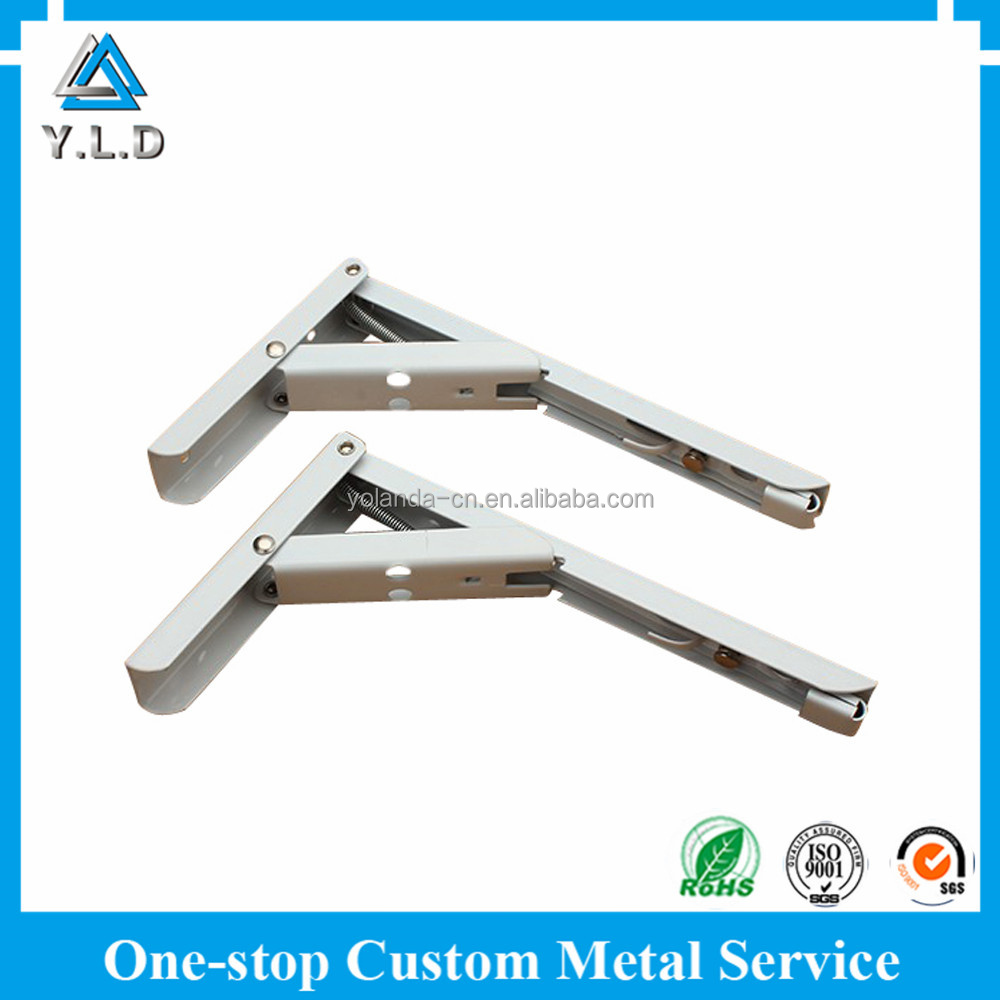 Customized High Quality Powder Coating Stainless Steel Folding Shelf Bracket