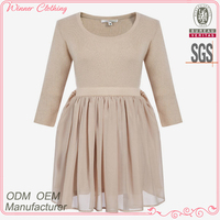 New design chiffon peplum women sweater dresses