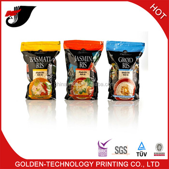 self standing plastic food packaging bag