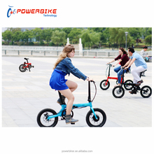 power assist portable BMX factory direct lady love 250w 36v 5.2Ah lithium battery electric folding bike with CE