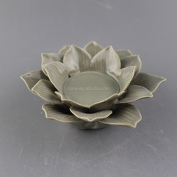Porcelain ceramic lotus flower candle holder wholesale