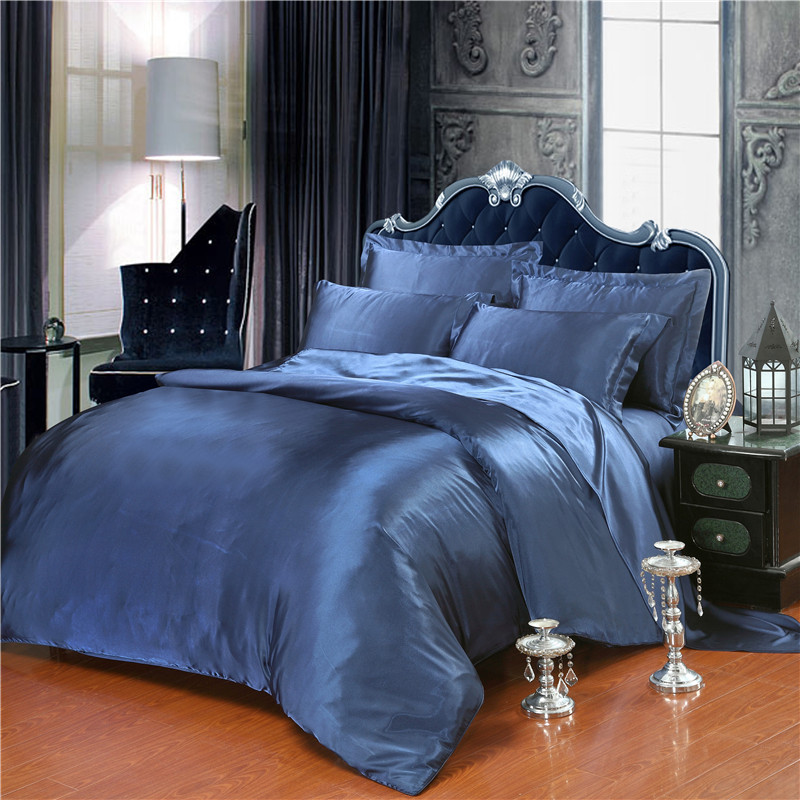 Home Bedding Collection silk satin Sheet Bed Luxury Wedding Bedding Set