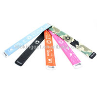 custom slogan fashion steel band fabric slap on bracelet