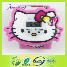 Cute hello kitty kids factory best price PVC slap watch
