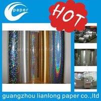 Manufacturer Pet transferring Holographic metallized paper