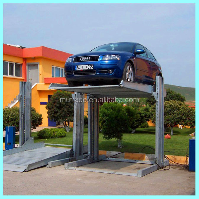 simple car parking lift TPP-2 type car parking system project