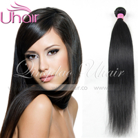 Wholesale! virgin human hair extension alibaba express silk straight hair weaving with high quality in peru