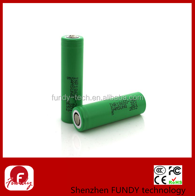Authentic 25r 3.7v green samsung inr18650-25r battery 18650 35 amp battery samsung 25r 18650 akku imr 18650 2500mah battery