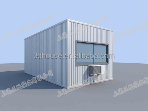shanghai prefabricated flat pack movable 20ft living container house