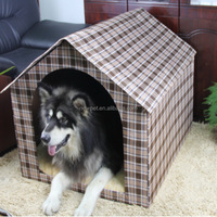 China wholesale new coming resistant simple dog bed outdoor large dog house for two