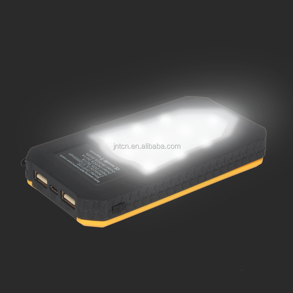 8000 mah Solar Power Bank Panel Portable Charger