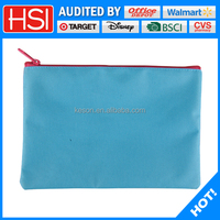 wholesale square zippered polyester pencil pouch for teenagers