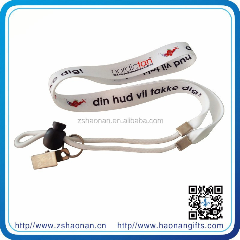 New products 2015 polyester/nylon/fabric/satin/ Material lanyards no minimum order