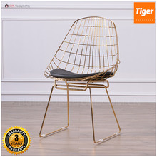 Luxury Modern wholesale leisure chair reproduction bertoia inspired wire chair in black painting