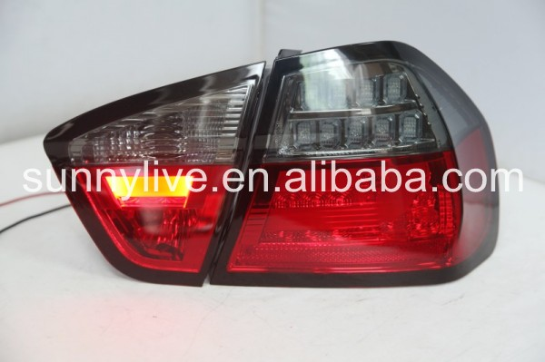 For BMW E90 3 Series 320i 323i 325 330 335 LED Tail Lamp 05-08 Red Black V3