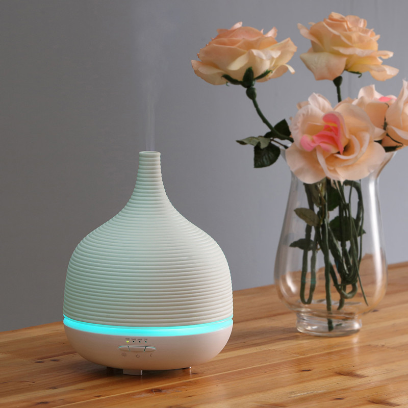 Newest 500ml capacity Porcelain aroma humidifier with timer,tabletop ultrasonic aromatherapy diffuser GH2189B