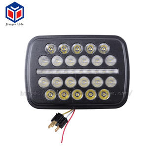 Hot sale For Auto offroad Jeep Square Shape 66W 5.7inch High/Low Beam 9-14v LED Work light