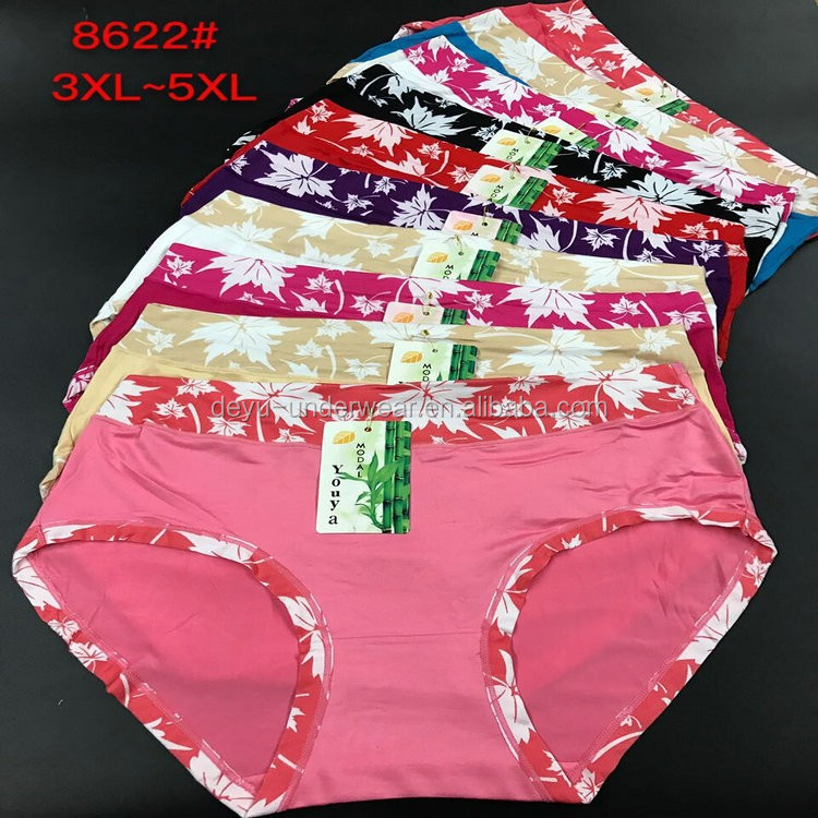 0.4USD 26-35CM Big Waist Nepal/Nigeria/Vietnam/Cambodia Hot Sale Assorted Fllowers Good Quality Women Underwear/Panty (gdzw168)