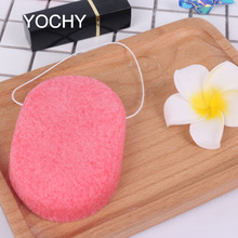 Wholesale Rose Red Shape Oval Shaped Konjac Sponge Deeply Clean Organic Konjac Sponge Facial Cleansing