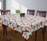 New arrival fresh style PVC tablecloth with non woven backing