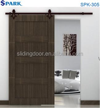 Modern office furniture iron sliding door fittings wooden for Sliding door for main door
