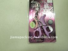 Clear PVC clamshell blister packing for eyelash curler