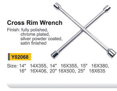 Y02068 Cross rim wrench