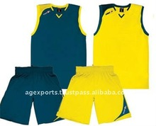 designer basketball jersey and short
