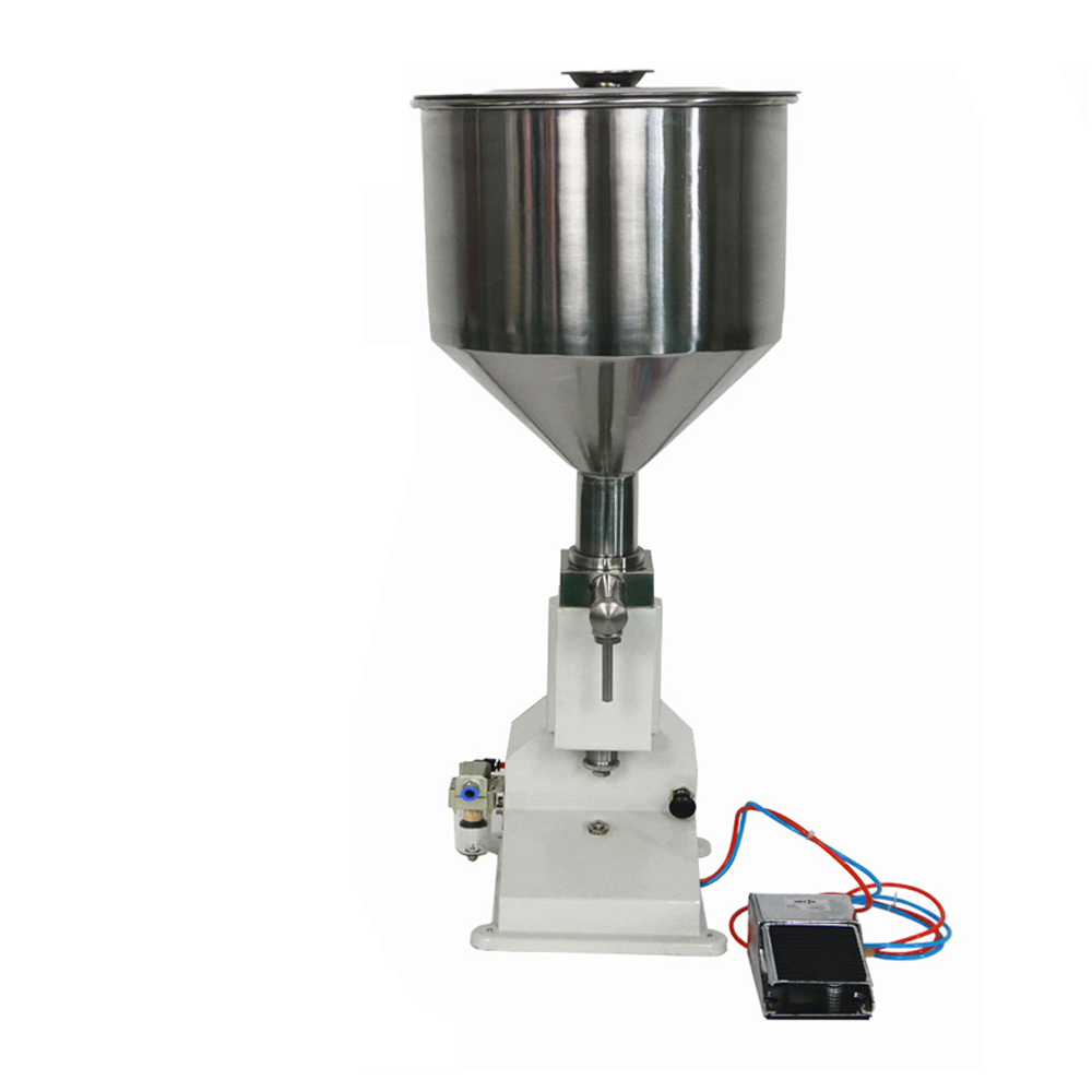 <strong>A02</strong> Pneumatic Filling Machine for Cream &amp; Shampoo &amp; Cosmetic with foot pedal