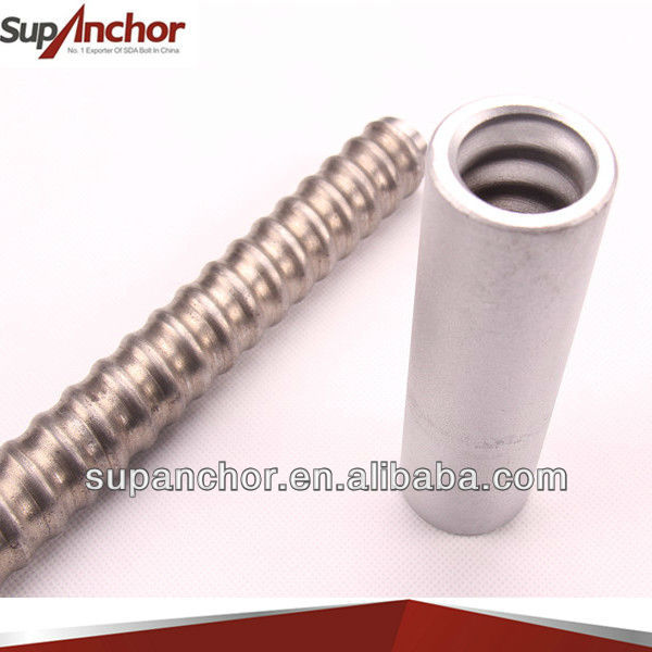 SupAnchor construction high quality high yield SDA hollow drilling rock anchor coal mine roof bolt & reinforcing steel bars