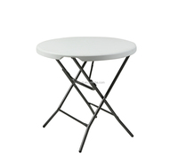 80CM Round Folding Table,76CM Height.