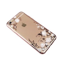 Factory wholesale diamond electroplating tpu cell phone case for iphone 6 6s