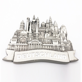 High Quality Custom Germany Souvenir Magnets Pewter 3D Metal Fridge Magnet Collectible Magnets