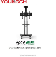 Floor standing display rack with wheels adjustable frame custom made according to your need screen size marketable for interior