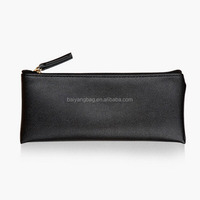 Promotional travel pu cosmetic make-up bag pencil bag case hand bag with zipper