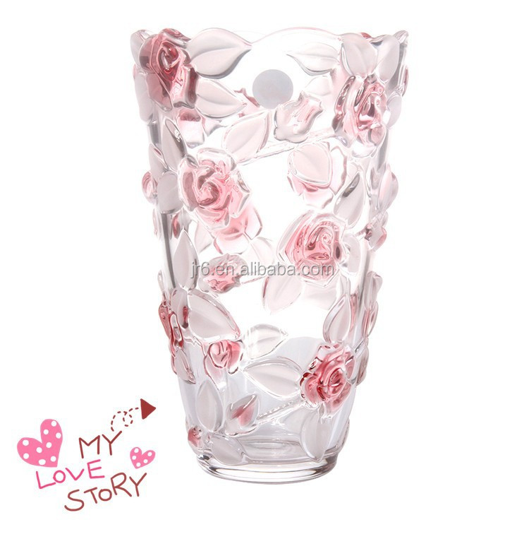 Cheap Wholesale Wedding Clear Crystal Glass Tall Vase For