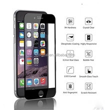 2.5D Full Cover Silk Printing screen Protector Tempered Glass For iPhone 5