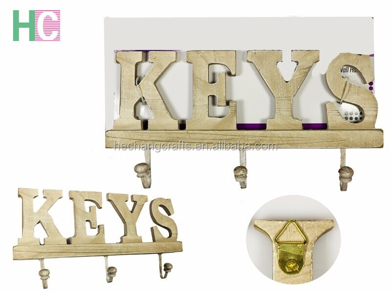Custom wall hanging wooden key holders