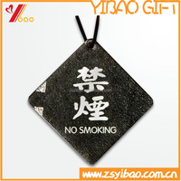 gift die cut hanging car air freshener for No smoking