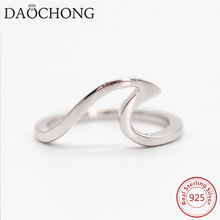New design s925 silver rings jewelry / wholesale value pure 925 sterling silver wave rings