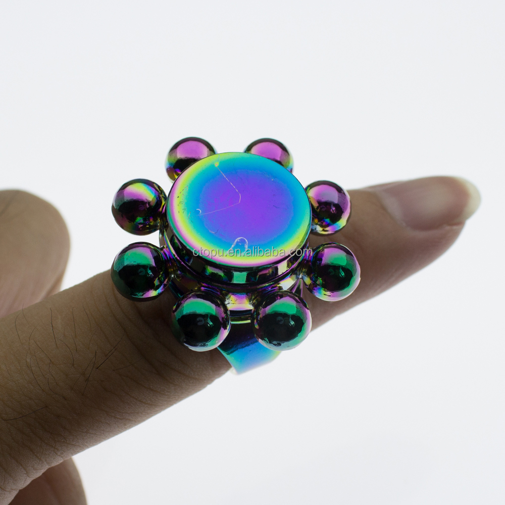 Rainbow Hand Spinner finger ring mini spinner