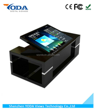 LCD multi touch screen interactive coffee table for game/conference/restaurant