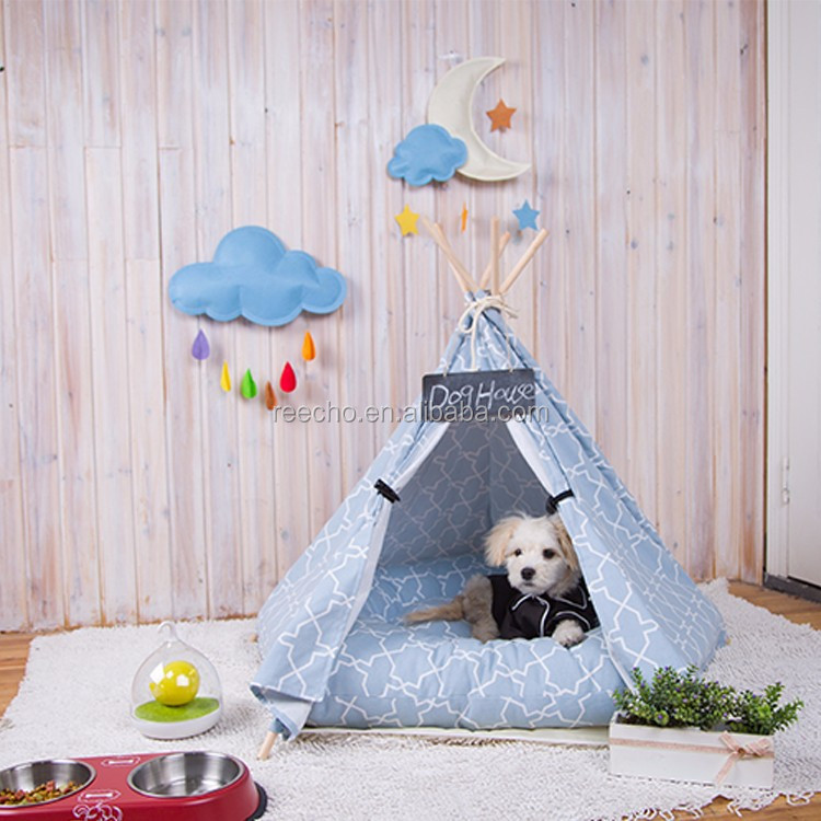 Outdoor Foldable And Portable Pet Teepee Tent