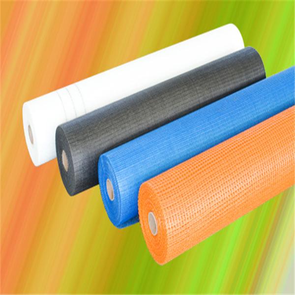 Alkali Resistant 160g 4*4 mm Orange Color Fiber Glass Fabric Mesh for Plastering 50m Long