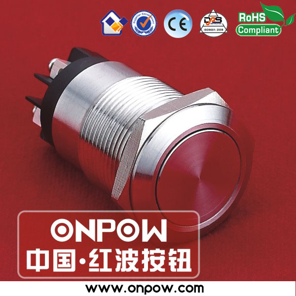 ONPOW 19mm Anti-vandal push button switch stainless steel switch (CE, ROHS)