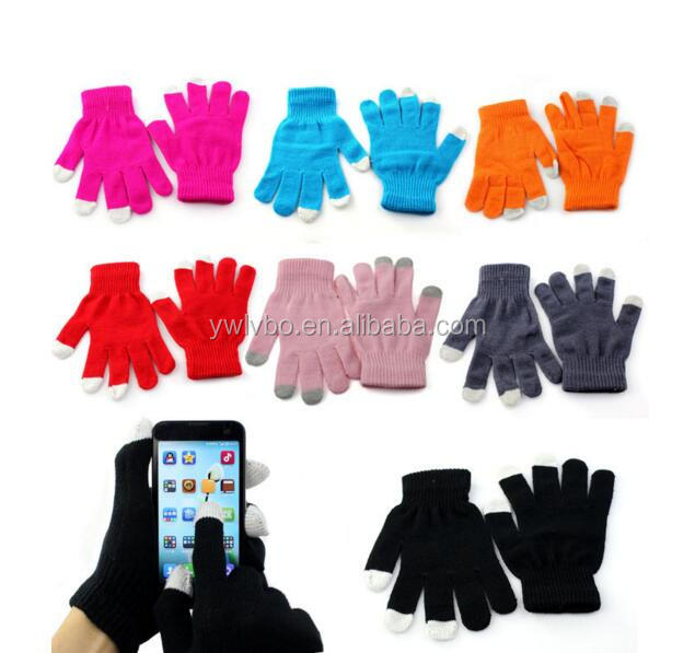 Supply Youch Touch Guantes Mittens Women Men Texting Knit Winter Gloves Touch Screen Gloves For Smartphone