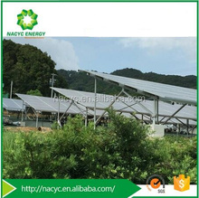 Solar Mounting System With Mount Bracket Screw Pile / Concrete Pile on Open Space