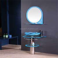 Simple design mirrored modern decorative floor standing wash basin